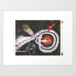 Mars Underworld Surrender Art Print