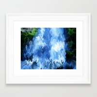 waterfall Framed Art Prints featuring Waterfall by Paul Kimble