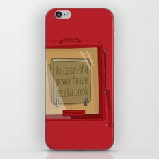 In case of a power failure: read a book iPhone & iPod Skin