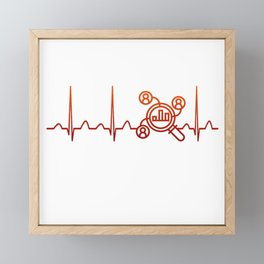 Financial Analyst Heartbeat Framed Mini Art Print