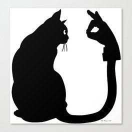 Chasing Shadows - Cat Tail Hand Shadow Puppet Surreal Fantasy Canvas Print