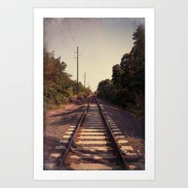 Train Whistle Blues Art Print