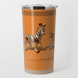 Butterscotch Stripes Travel Mug