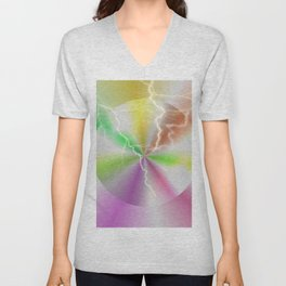 Electric Lollipop Unisex V-Neck
