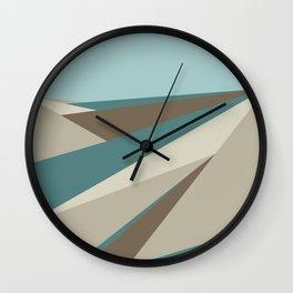Geometric Plane - Blue Neutral Wall Clock
