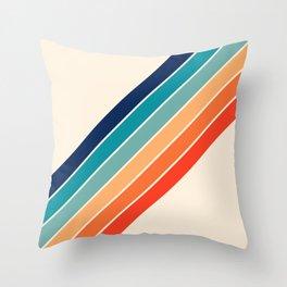 Karanda - 70s Style Classic Retro Stripes Throw Pillow