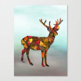 Animal Mosaic - The Deer Canvas Print