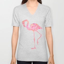 Geometric flamingo Unisex V-Neck