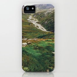 Hiking Swiss Alps iPhone Case