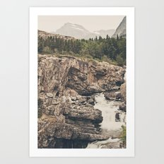 Mountain Waterfall Art Print