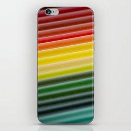 Coloured pencils iPhone Skin