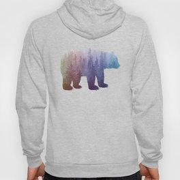 Misty Forest Bear - colorful rainbow Hoody