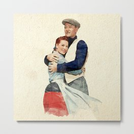 The Quiet Man - Watercolor Metal Print
