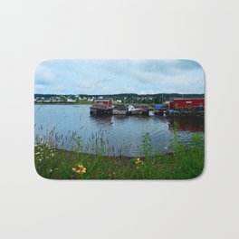 Fisherman's Wharf in Cape Breton Bath Mat