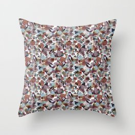 Girls on blossoms Throw Pillow