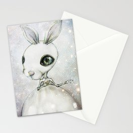 Delicate Rabbit Stationery Cards