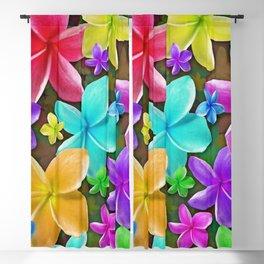 Plumerias Flowers Dream Blackout Curtain
