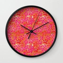 Handblock Printed Floral Wall Clock