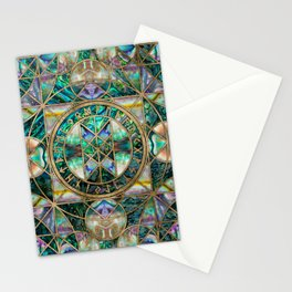 Web of Wyrd The Matrix of Fate -Abalone Shell Stationery Cards