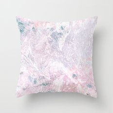 Navy Pink Marble Throw Pillow
