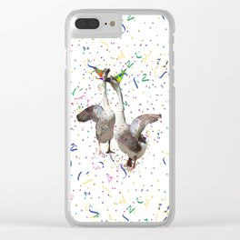 Partying Geese Clear iPhone Case