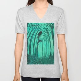 Moby´s Forest - Mint Green Unisex V-Neck