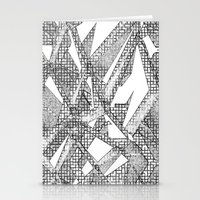 blueprint Stationery Cards featuring Blueprint - monochrome by Etch by Design