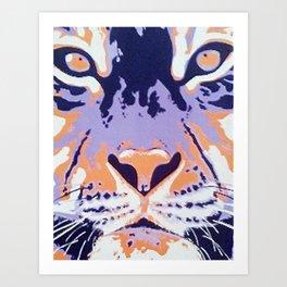 Orange and Purple Tiger Art Print