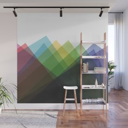 Fig. 002 Colorful Mountains Wall Mural