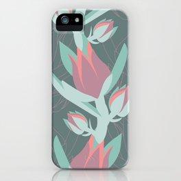Succulent floral element & patterns II iPhone Case