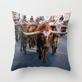 Denver National Western Stock Show Kick-of Parade 2018 Throw Pillow