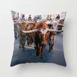 Denver National Western Stock Show Kick-of Parade 2018 Throw Pillow