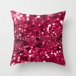 Red Summer Love Glitter #1 #shiny #decor #art #society6 Throw Pillow