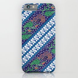 Indonesian combination batik with dominant blue color iPhone Case