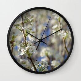 Flowering Pear Tree Wall Clock