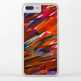 Colorful Chaos Clear iPhone Case