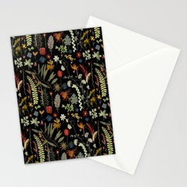 Dark Floral Sketchbook Stationery Cards