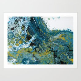 Teal Waves Art Print