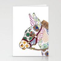 donkey Stationery Cards featuring DONKEY by Mai Kurihara