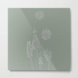 Forest Bathing - Sage  Metal Print