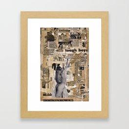 Tough Boys Framed Art Print