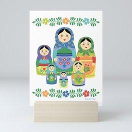 Russian Nesting Dolls Mini Art Print