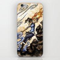 the legend of korra iPhone & iPod Skins featuring Korra by Surfinpika