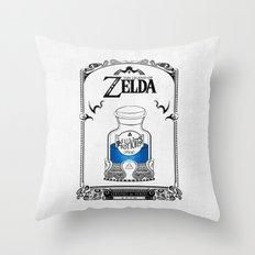 Zelda legend - Blue potion  Throw Pillow