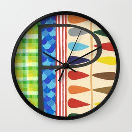 P is for Pattern Wall Clock
