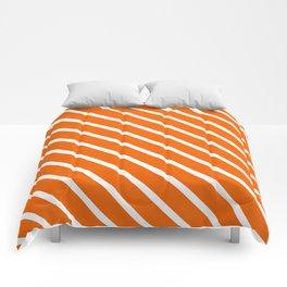 Pumpkin Diagonal Stripes Comforters