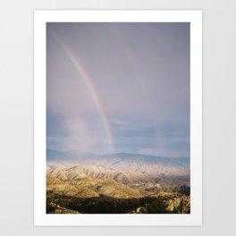 Double Rainbow Print Art Print