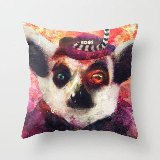 Lemur ( The Pimp Le-Mur ) Throw Pillow