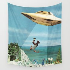 UFO Abduction Wall Tapestry