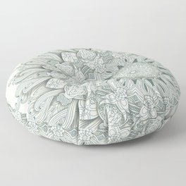 Flowers in the Sea - Mandala Floor Pillow